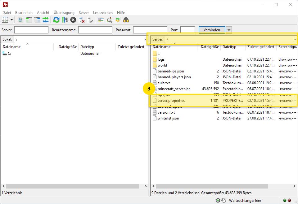 Minecraft Mutiplayer create world via FTP with server.properties