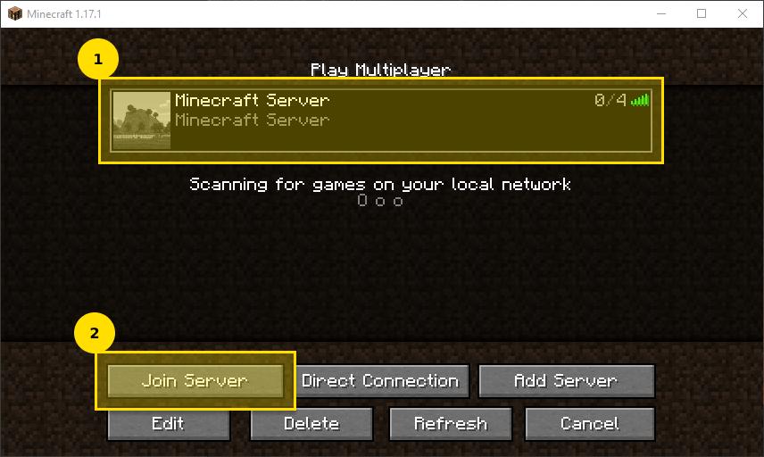 Minecraft Server verbinden